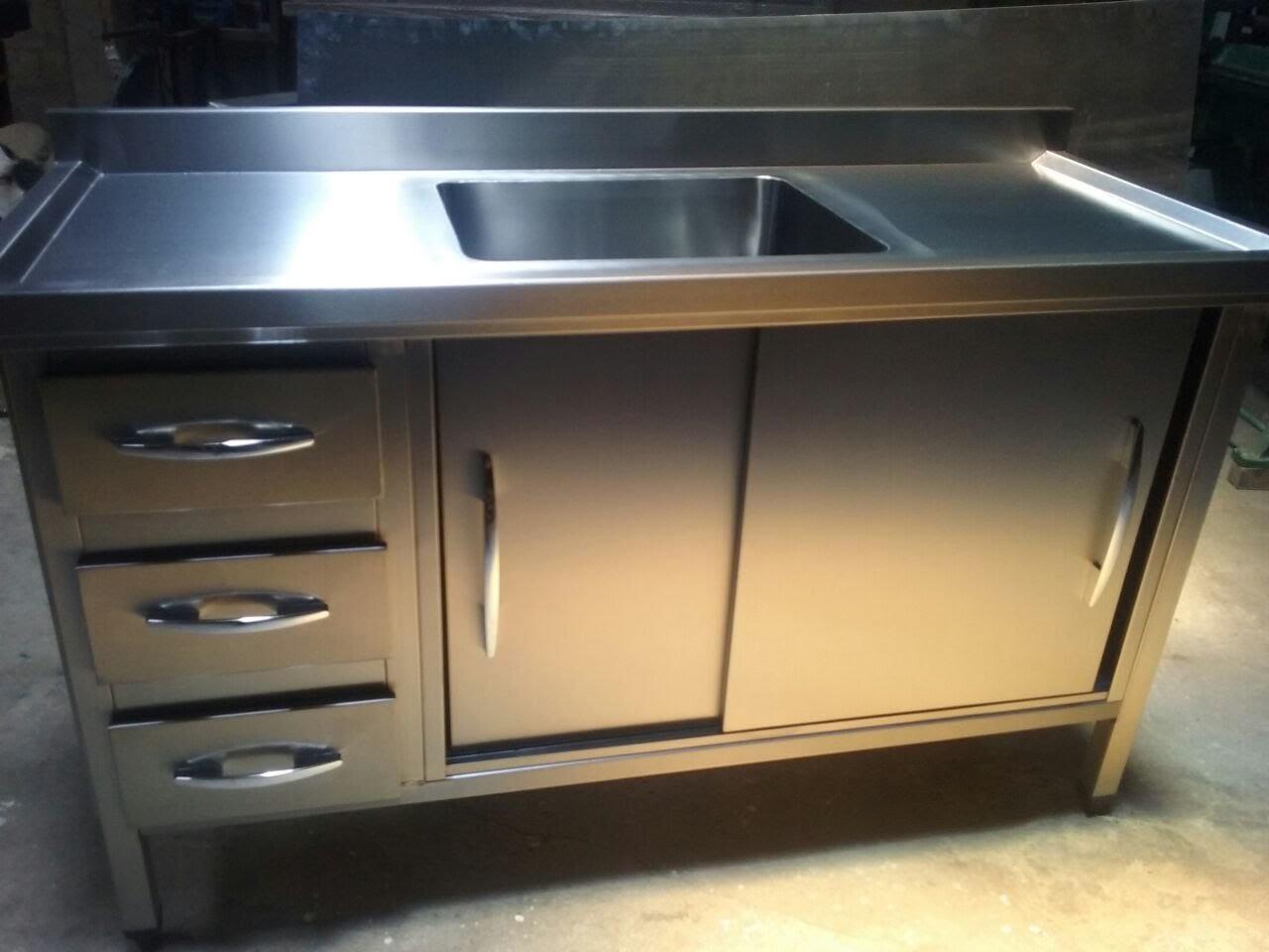 Armário em aço inox para cozinha industrial  ABC Steel -> Armario Banheiro Aco Inox