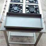 Fogão industrial em aço inox